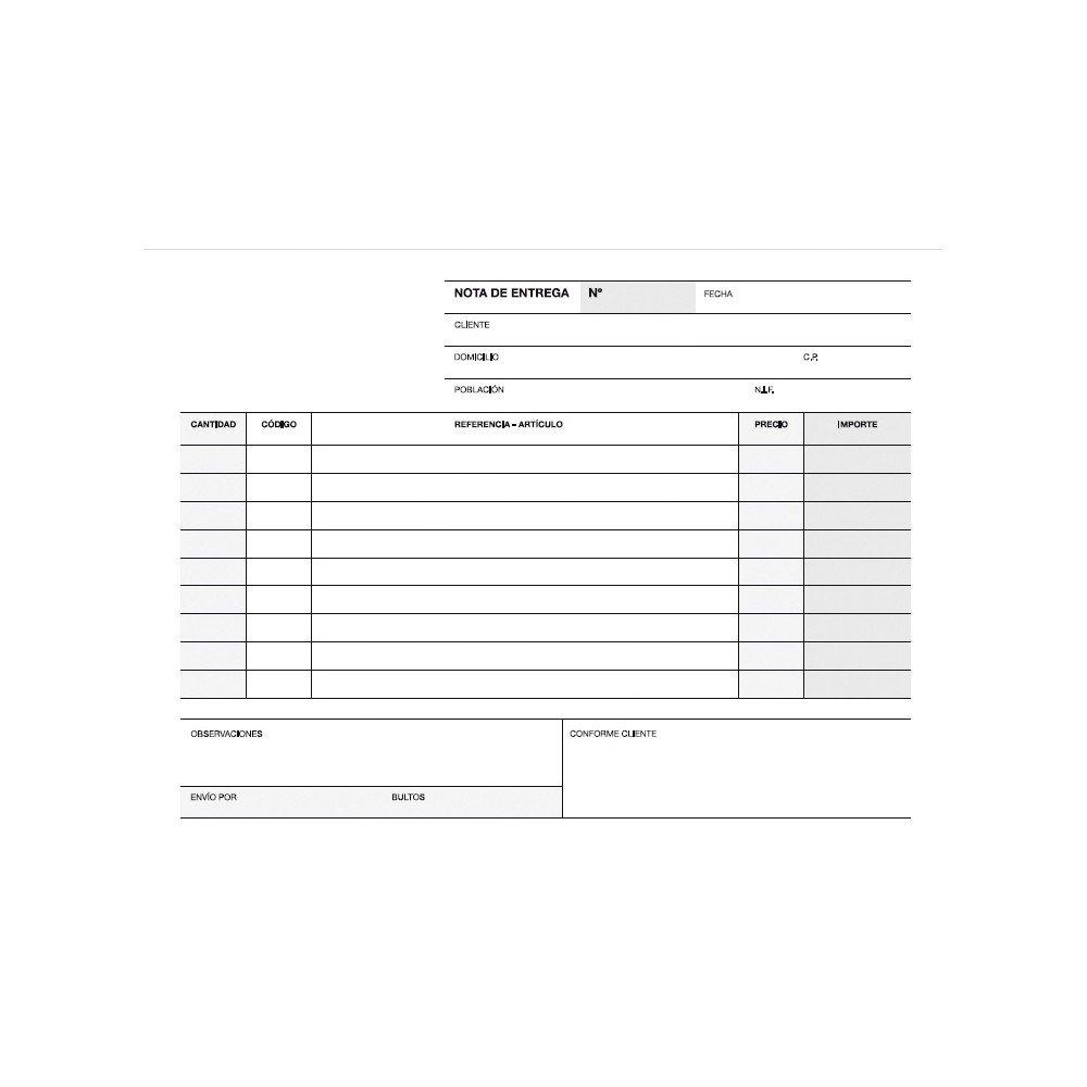 Talonario Notas de Entrega Duplicado 145x105 mm Apli 12696-1