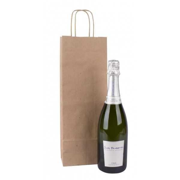 50 Bolsas Kraft Con Asas para Botellas 16x8x39 cm Apli 102540