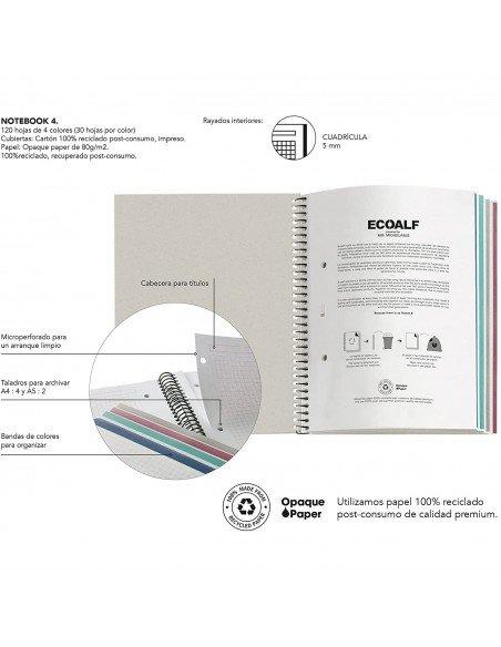 Notebook Cuadrícula A4 Color Rojo Ecoalf by MiquelRius - info