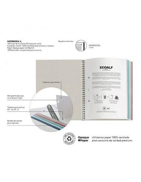 Notebook Rayado A4 Color Marino Ecoalf by MiquelRius - Info