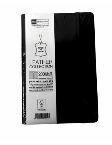 Cuaderno 1839 Leather 8º sin Índice 200H Cuadrícula