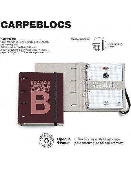 Carpebloc A4 Color Burdeos Ecoalf by MiquelRius