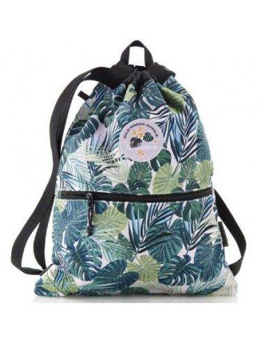 Bolsa Saco Dos Compartimentos Motivo Tropical