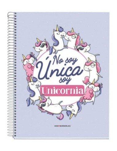 Libreta No Soy Unicornio A4 Miss Borderlike