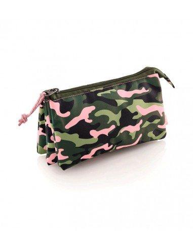 Portatodo Triple Compartimento Motivo Pink Jungle
