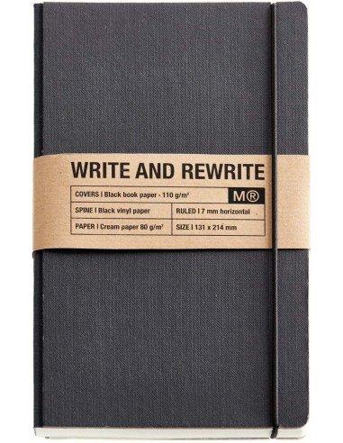 Cuaderno 1839 Cartón Rígido Just Black 130x210mm