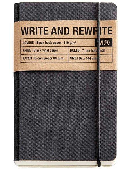 Cuaderno 1839 Just Black Cartón Rígido 90x140mm