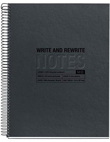 Notebook Negro Formato A4 Reciclado