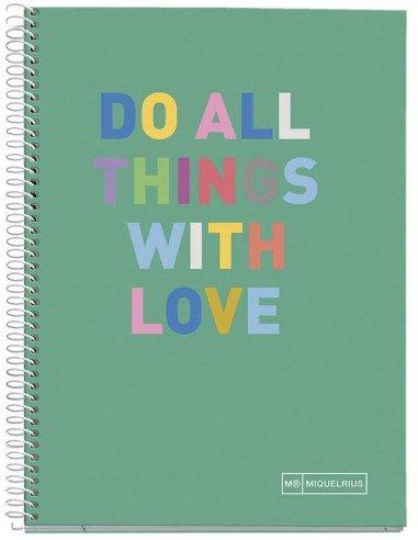 Notebook Hello Formato A5 140 H Verde