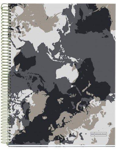 Notebook Mapamundi Formato A4 140 H