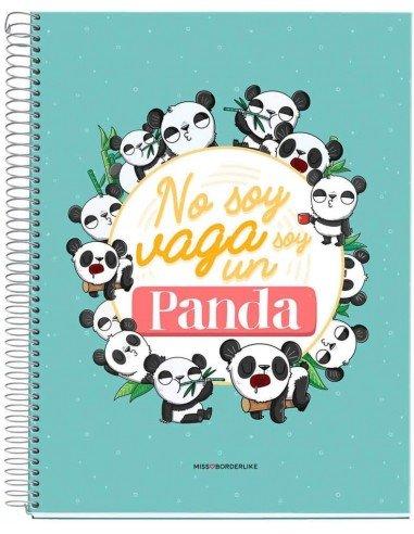 Libreta No Soy Panda A4 Miss Borderlike