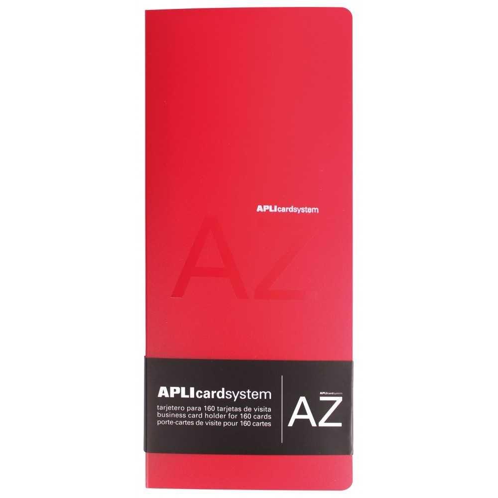 Tarjetero Polipropileno Rojo Capacidad 160 Tarjetas Apli 12115