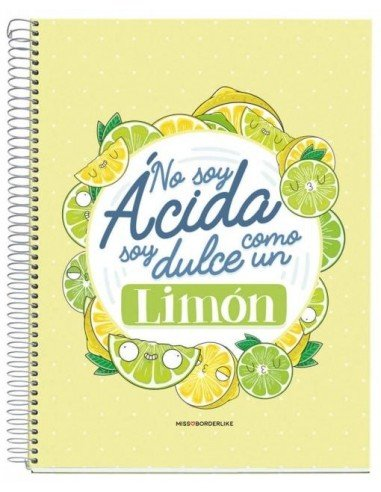 Libreta No Soy Limón A4 Miss Borderlike