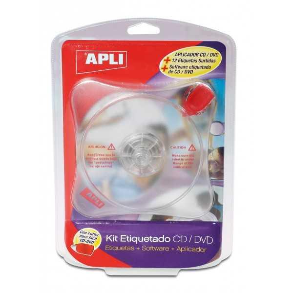 Kit Centrador de Etiquetas CD/DVD Apli 10959