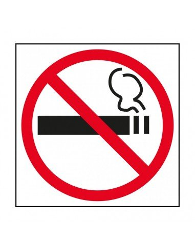 Etiqueta Señalización Prohibido Fumar 114 x 114 mm Apli 11535