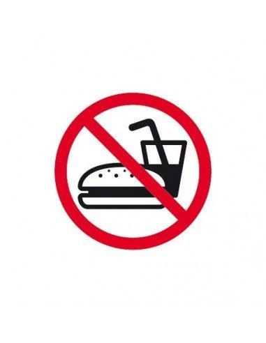 Etiquetas Señalización Prohibido Comer 114 x 114 mm Apli 00847