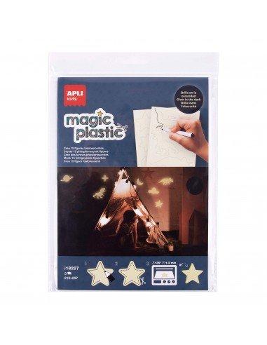 Plástico Mágico Transparente 3H A4 Glow In The Dark Cara