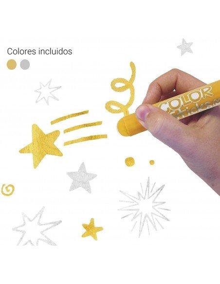 Témperas Sólidas Colores Oro y Plata Metalizados Apli 18880 ej.