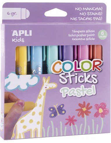 Témperas Sólidas Colores Pastel Surtidos Apli 18881