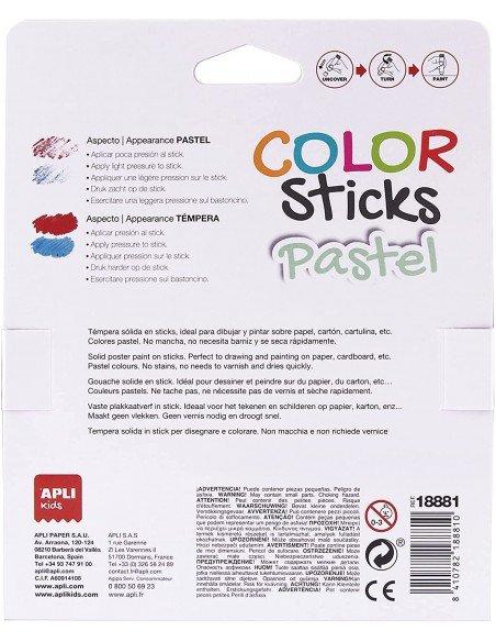 Témperas Sólidas Colores Pastel Surtidos Apli 18881 2