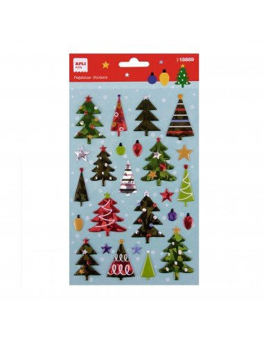 Bolsa Pegatinas Motivo Árbol de Navidad Apli 18889