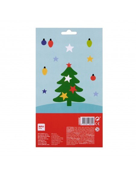 Bolsa Pegatinas Motivo Árbol de Navidad Apli 18889 2