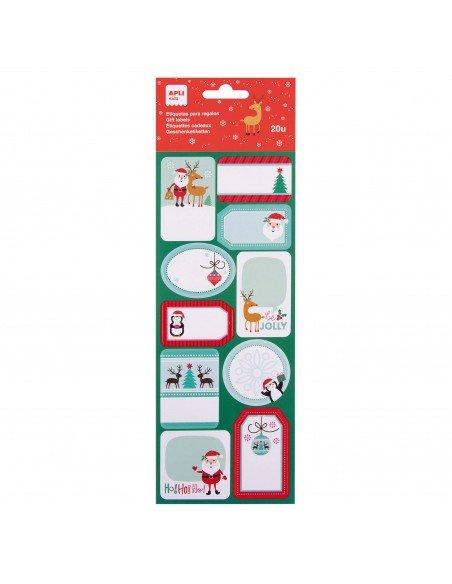 Etiquetas Regalos Navidad Motivo Renos 2H Apli 18891