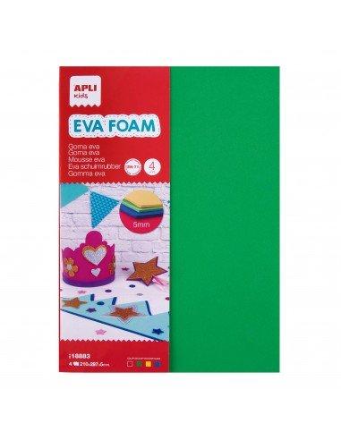 Goma Eva Grosor 5mm Colores Surtidos 4H Apli 18883