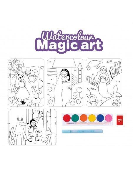 Set de Coloreado Mágico Watercolour Apli 18823 4