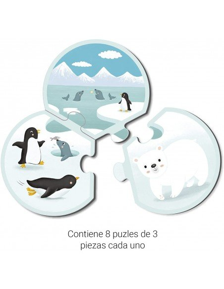 Puzle Trio Animales Y Su Habitat Apli 18821 3