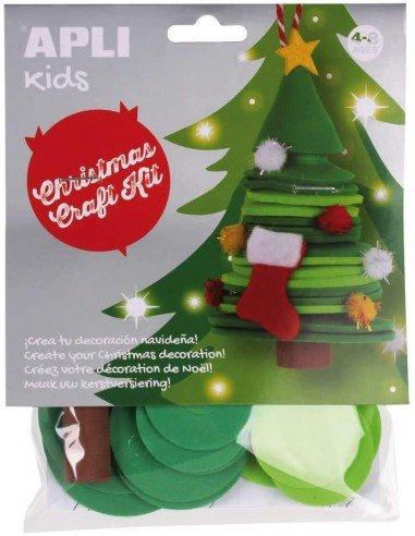 Kit Manualidad Crea Tu Árbol de Navidad Apli 18346