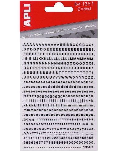 Letras y Números Transferibles 2,5mm Apli 1351