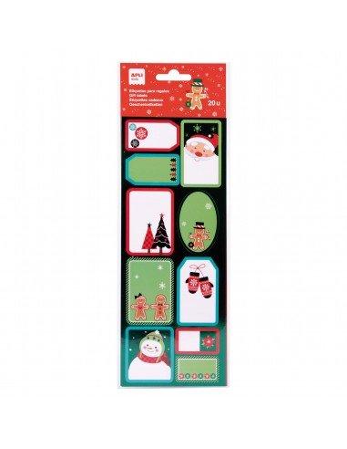 Etiquetas Para Regalos de Navidad Motivo Galleta Apli 18553