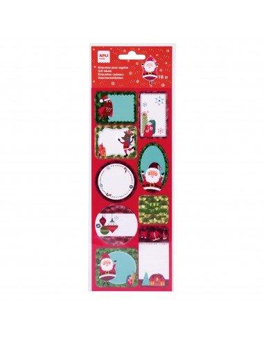Etiquetas Para Regalos de Navidad Motivo Pink X'mas Apli 18554