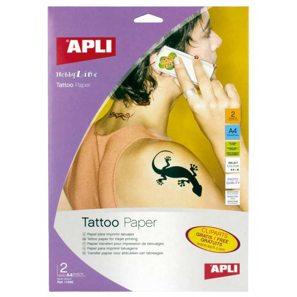 Hojas Papel Para Hacer Tatuajes Apli 11295